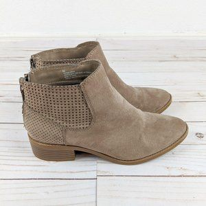 DV Target Perforated Ankle Bootie Faux Suede 6.5